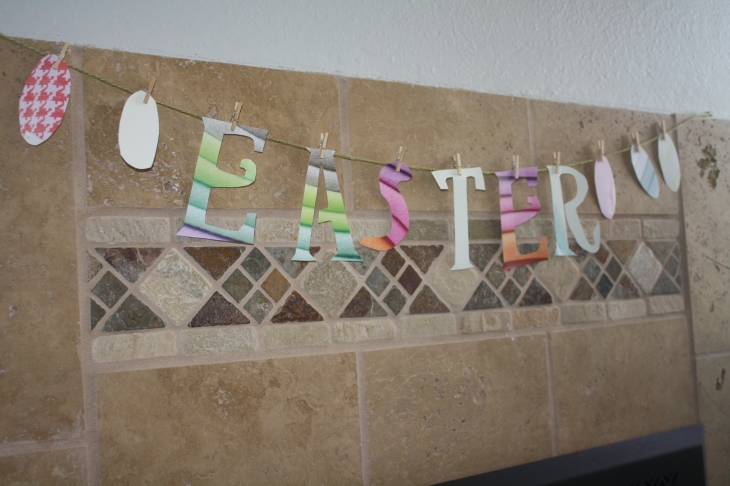 Easter Banner made from a J.Crew catalogue