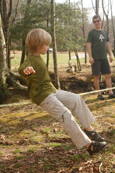 Slacklining at the campground