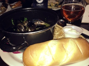 Mussels and a Cold Beer